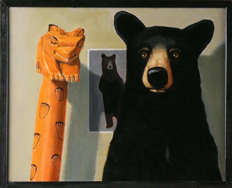 Bear X Three, 16 x 20 inches, Oil